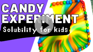 Skittles candy experiment for kids video